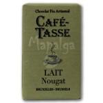 Tablette chocolat au lait Nougat 9g - CAFE TASSE