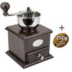 Moulin à café manuel Brésil bois teinté noyer - Peugeot + 1 KG café