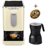 Machine à café automatique Slimissimo SCOTT + mousseur à lait Milkissimo + 3 kg de café offerts