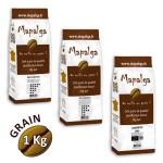 Pack découverte cafés en grain MAPALGA 1Kg