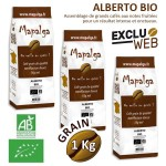 Pack x 3 Café grain ALBERTO BIO - 1 Kg - MAPALGA