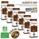 Pack x 6 Café grain ALBERTO BIO - 1 Kg - MAPALGA