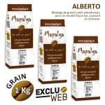 Pack x 3 Café grain ALBERTO - 1Kg - MAPALGA
