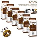 Pack x 6 Café grain BOSCO - 1 Kg - MAPALGA