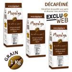 Pack x 3 Café grain DECAFEINE - 1 Kg - MAPALGA
