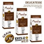 Pack x 3 Café grain DELICATESSE MAPALGA- 1 kg
