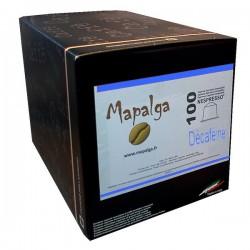 Capsules compatibles Nespresso DECAFEINE MAPALGA