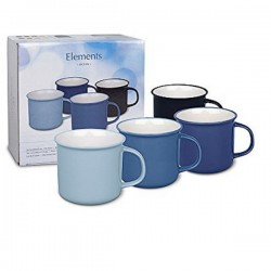 Set de 4 Mugs 380 ml Element Ocean WAECHTERSBACH