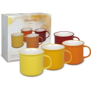 Set de 4 Mugs 380 ml Elements Magma WAECHTERSBACH