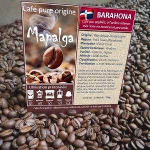 Café pure Origine République Dominicaine Barahona MAPALGA250 g