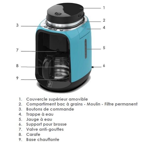 cette cafeti re permet de r aliser un excellent caf depuis le grain. Black Bedroom Furniture Sets. Home Design Ideas